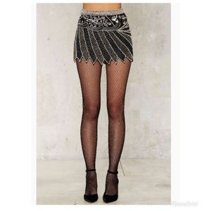 Nasty Gal Absolute Beginners Beaded Skirt, Size 2